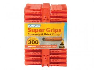 RP 187 Solid Wall Super Grips Fixings Red (300)